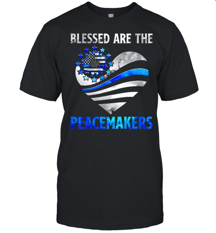 Police Blessed Are The Peacemaker Heart  Classic Men's T-shirt