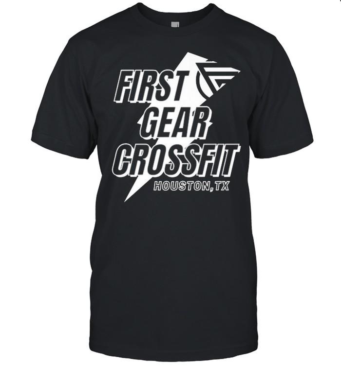 First Gear Crossfit Houston HTX Athlete gear NEW Logo  Classic Men's T-shirt