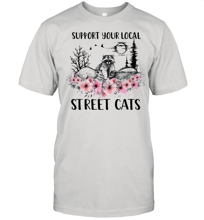 Support Your Local Street Cats And Raccoon T-shirt Classic Men's T-shirt