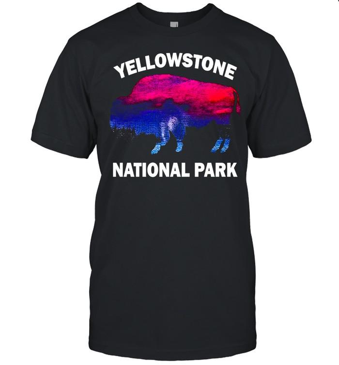 Yellowstone National Park Bison Souvenir Vintage T-shirt Classic Men's T-shirt
