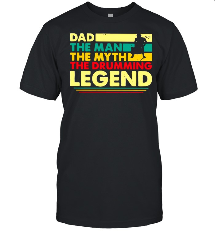 Father's Day Dad The Man The Myth The Drumming Legend Vintage Retro T-shirt Classic Men's T-shirt