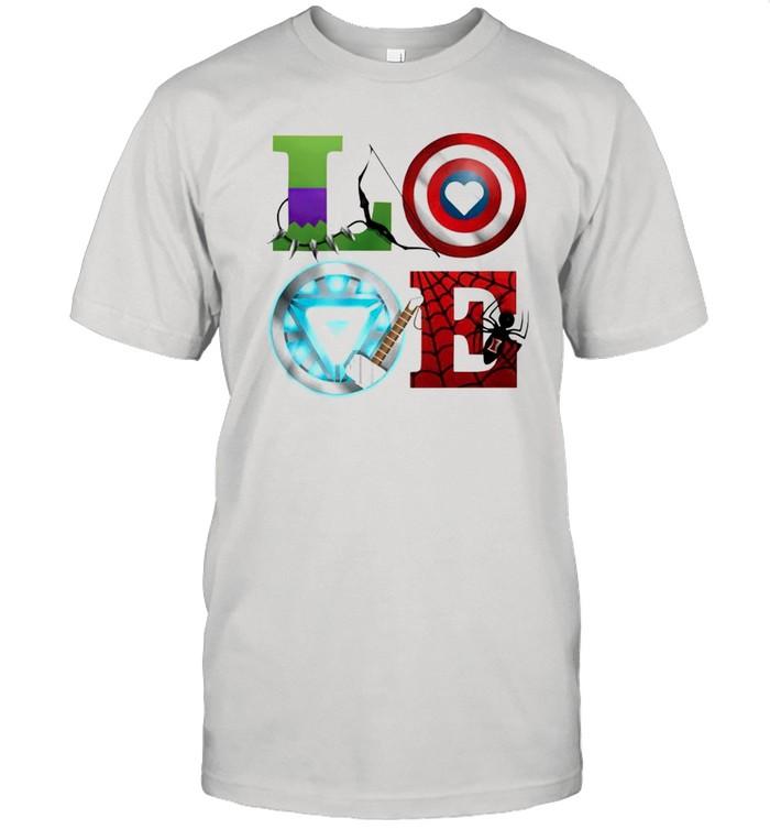 Love Marvel Avengers shirt Classic Men's T-shirt