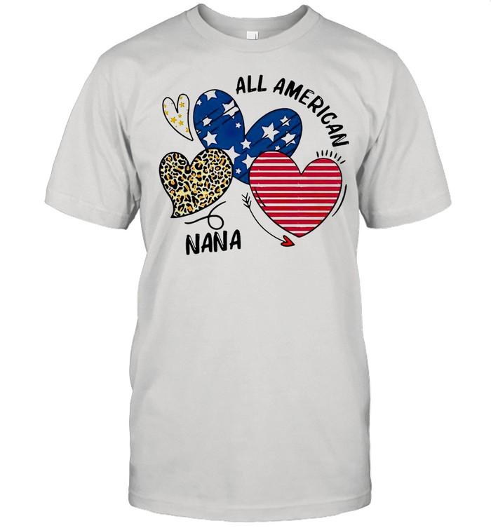 Heart All American Nana T-shirt Classic Men's T-shirt