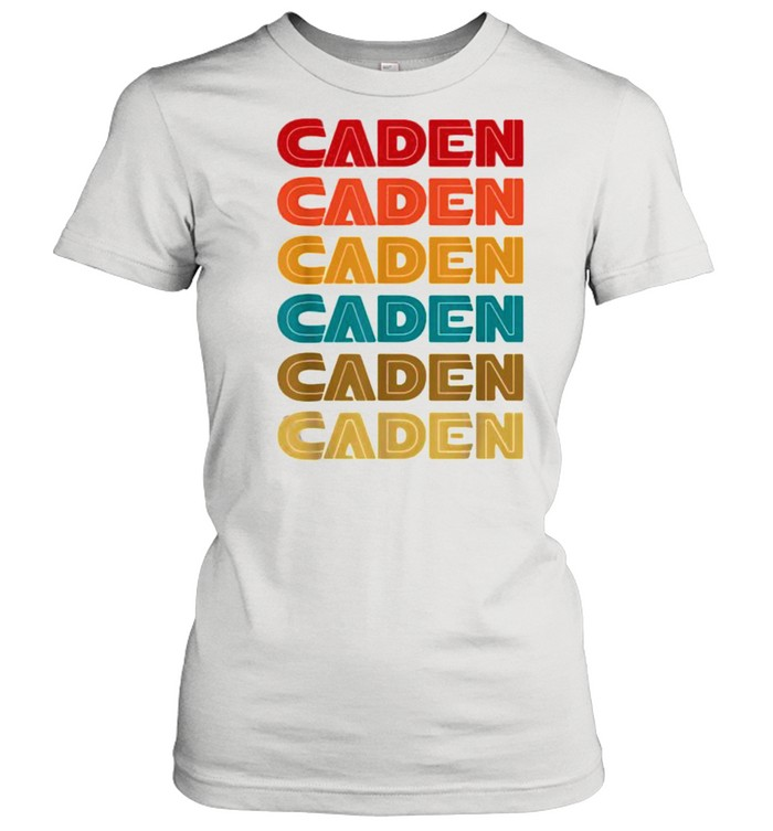 caden name retro given name colorful inline font  classic womens t shirt