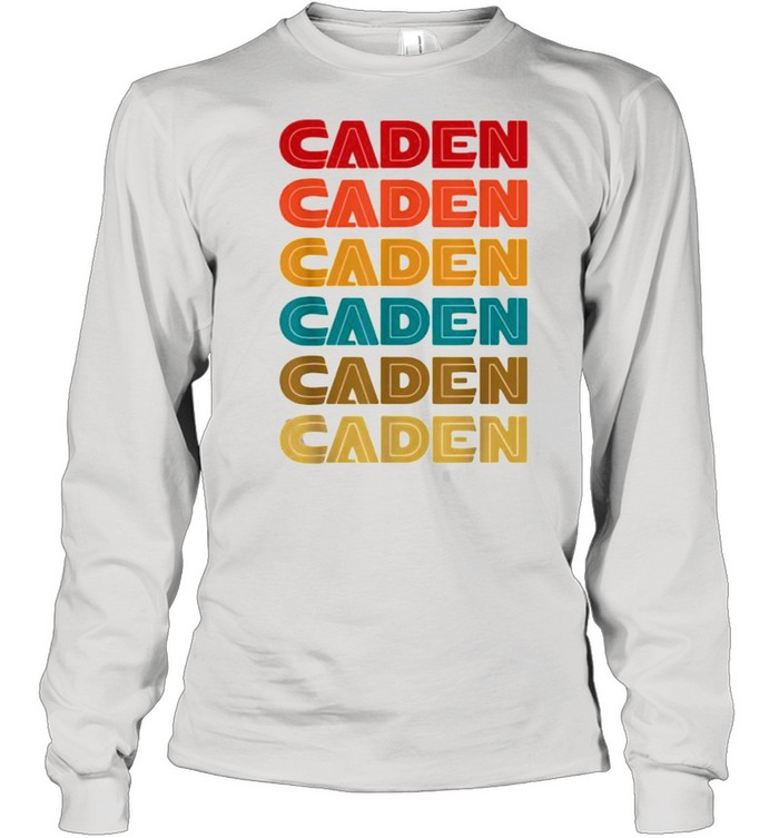 caden name retro given name colorful inline font  long sleeved t shirt