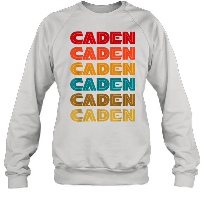 caden name retro given name colorful inline font  unisex sweatshirt