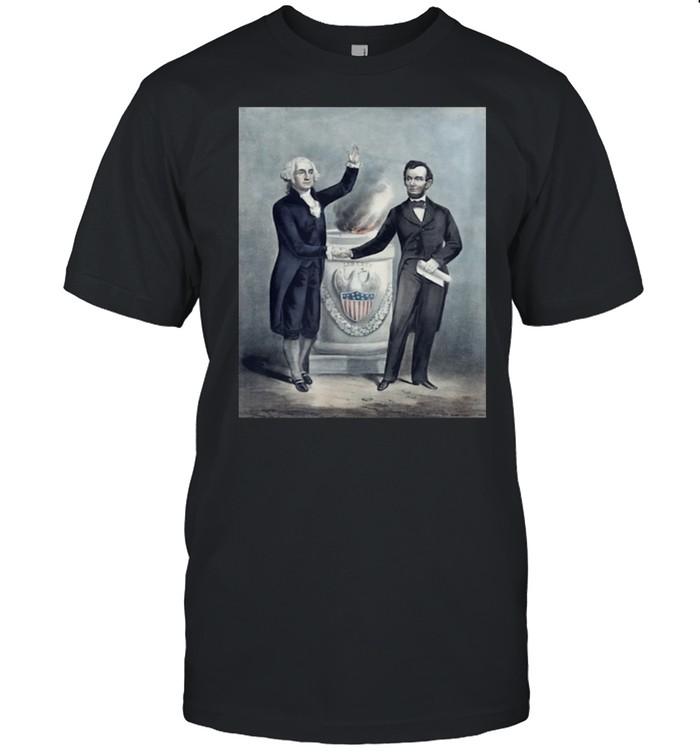 Washington and Lincoln Shaking Hands shirt Classic Men's T-shirt