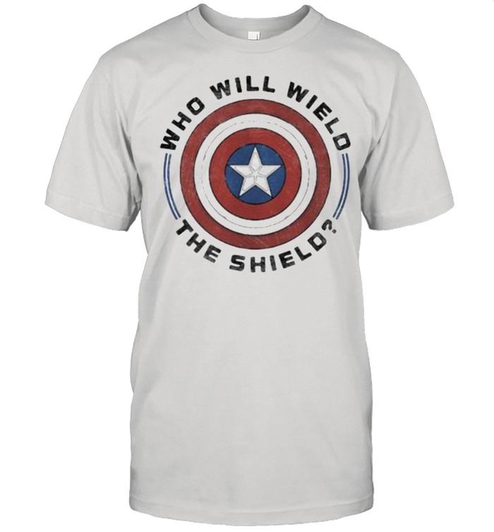 Who will wield the shield captain america shirt Classic Men's T-shirt
