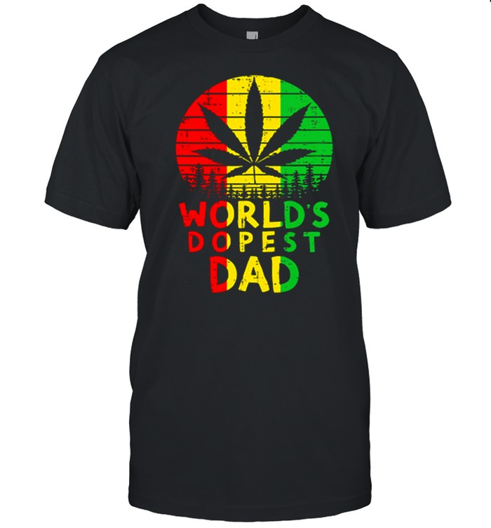 Weed Worlds Dopest Dad Vintage shirt Classic Men's T-shirt