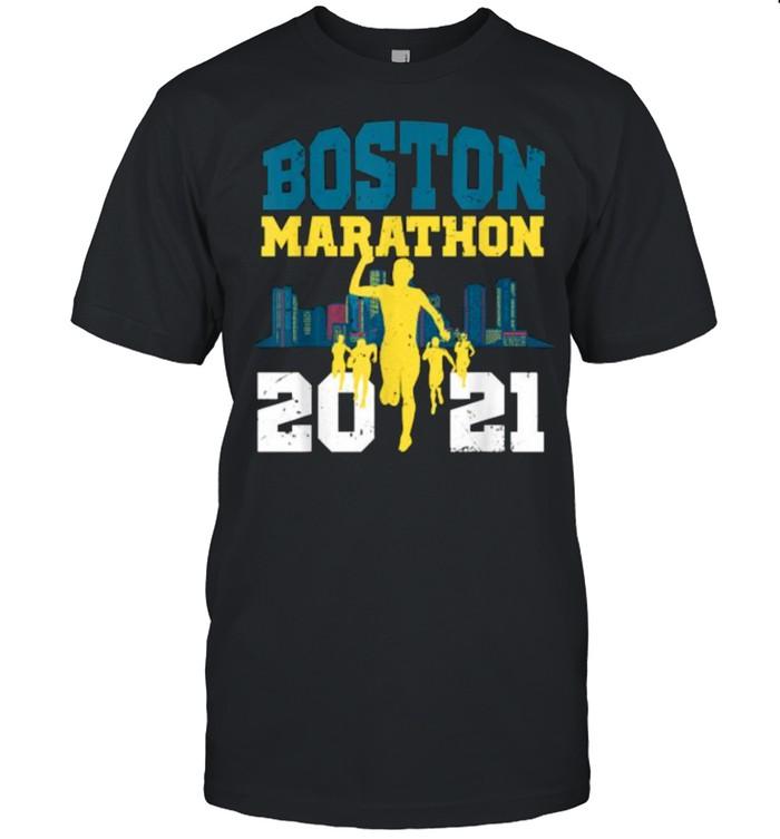 Boston 2021 Marathon Runner 26.2 Miles  Classic Men's T-shirt