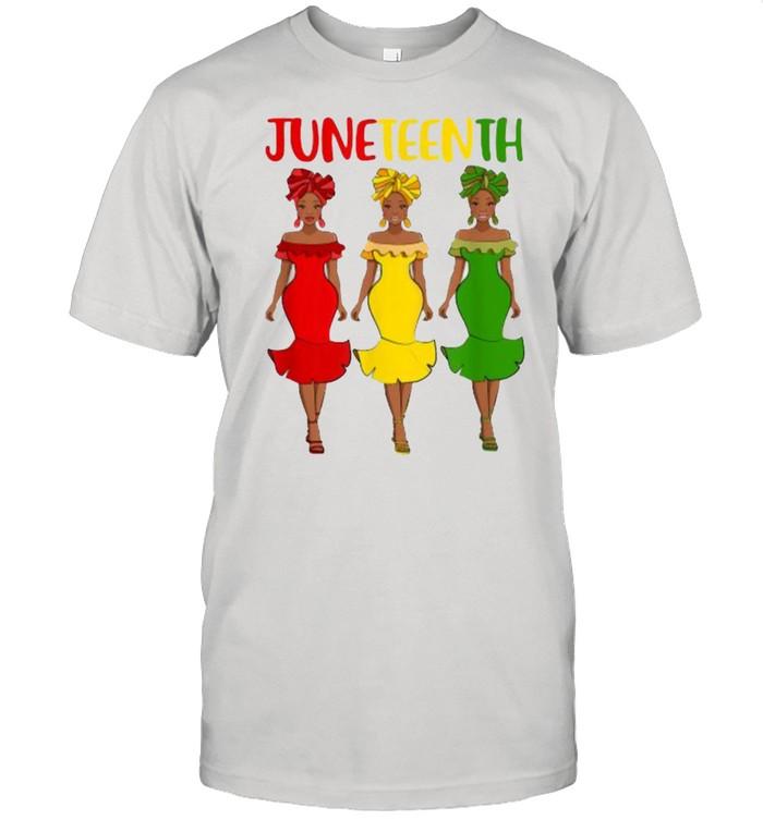 Juneteenth Melanin Black Women  Classic Men's T-shirt