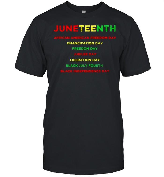 Juneteenth black july fourth emancipation day liberation shirt Classic Men's T-shirt