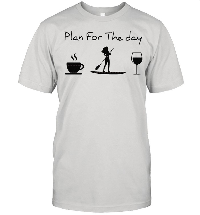 Plan for the day coffee Rowing and wine shirt Classic Men's T-shirt