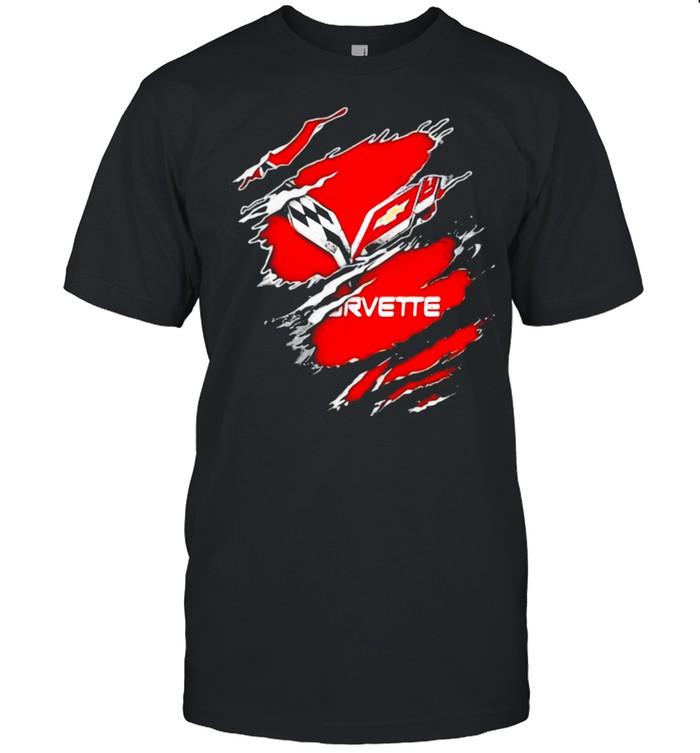 The Evolution Of The Chevrolet Corvette Logo shirt Classic Men's T-shirt