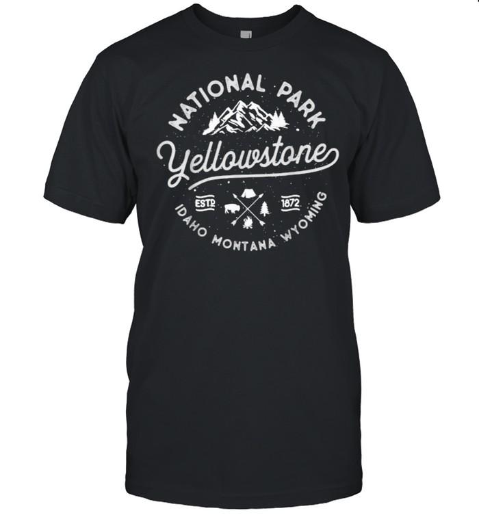 US National Park Yellowstone Bison Buffalo  Classic Men's T-shirt