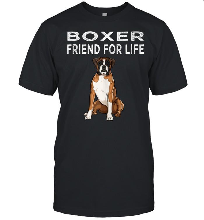 Boxer Friend For Life Dog Friendship shirt Classic Men's T-shirt