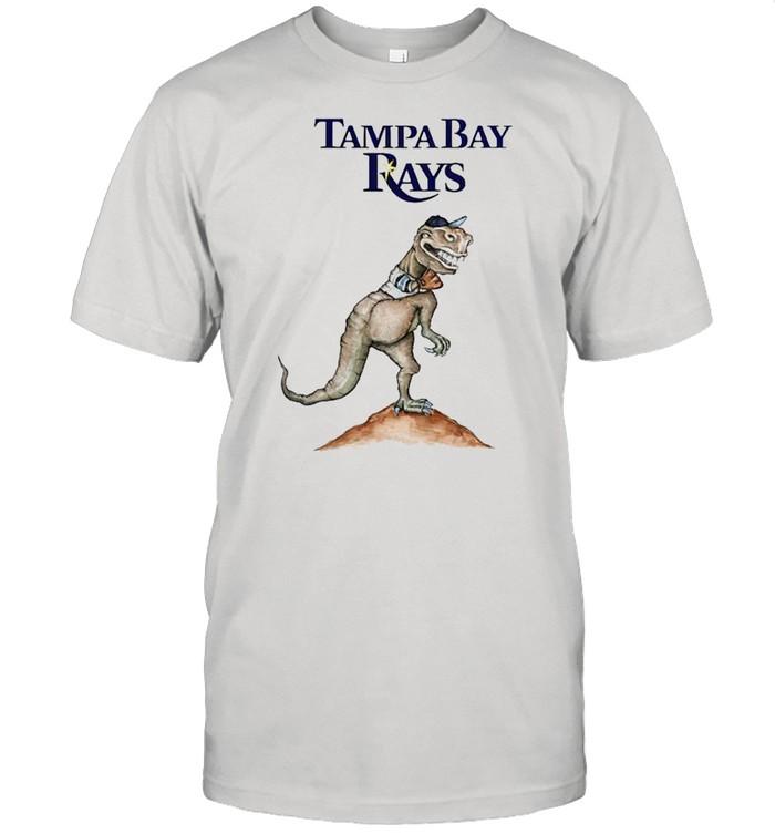 Tampa Bay Rays T-Rex throw a baseball shirt Classic Men's