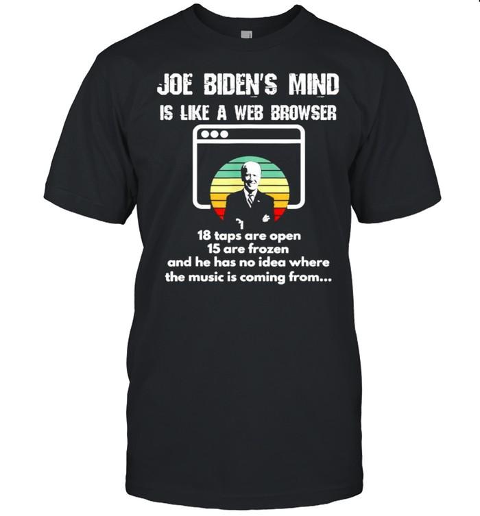 Joe Bidens mind is like a web browser 18 tabs are open shirt Classic Men's T-shirt