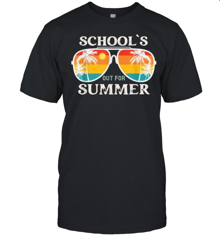 Schools Out For Summer Sunglasses Vintage Sun Last Day Of School T- Classic Men's T-shirt