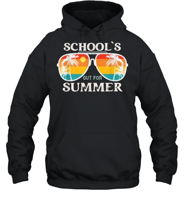 schools out for summer sunglasses vintage sun last day of school t  unisex hoodie