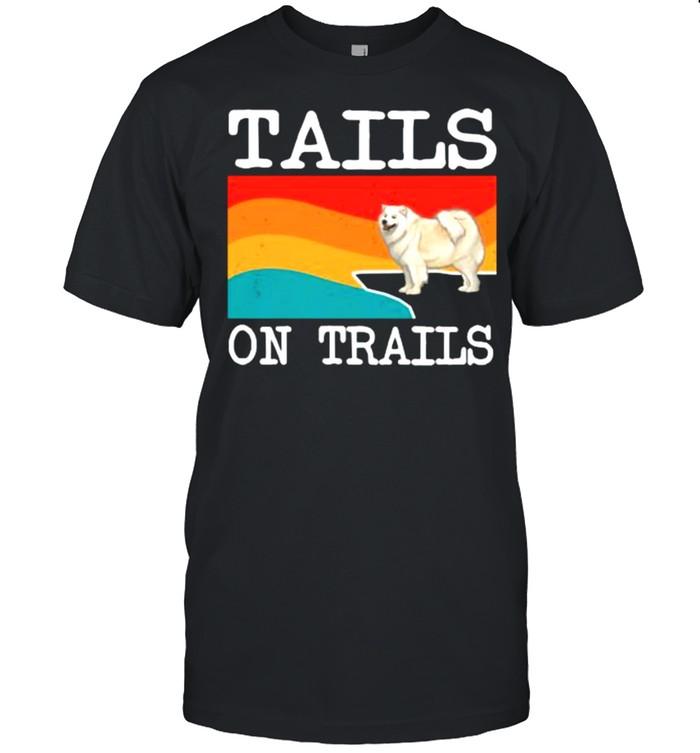 Tails On Trails Samoyed Dog Funny Hiking Long Sleeve T- Classic Men's T-shirt