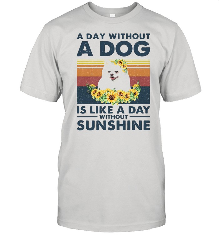 A Day Without A Dog Is Like A Day Without Sunshine Vintage  Classic Men's T-shirt