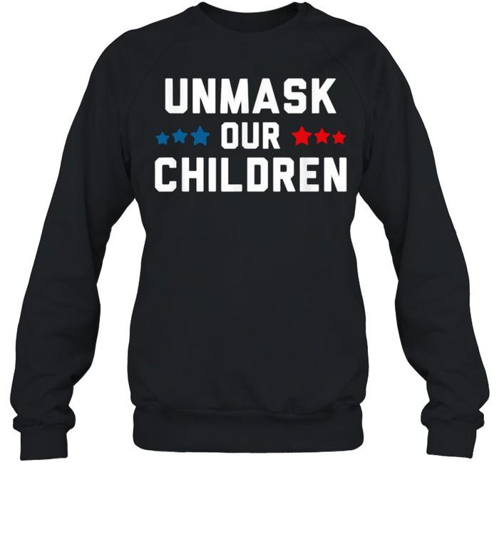 unmask our children election  unisex sweatshirt