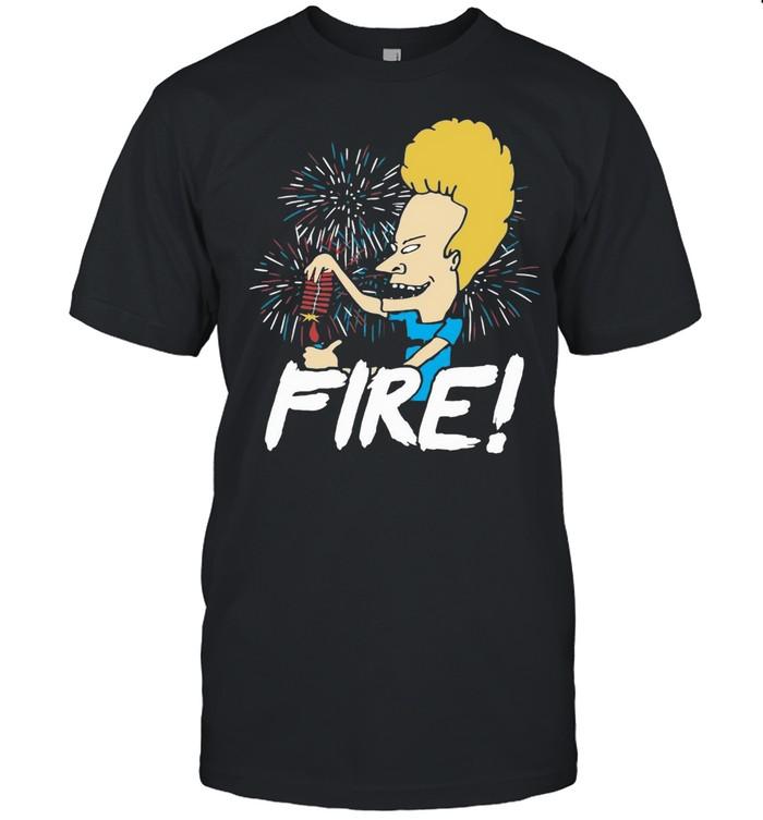 Beavis Fire Firework 4th Of July T-shirt Classic Men's T-shirt