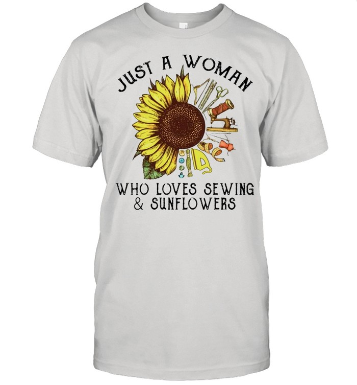Just a woman who loves sewing and sunflowers shirt Classic Men's T-shirt