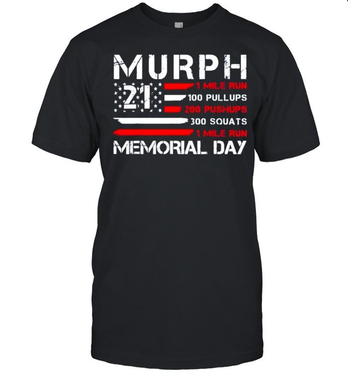 Murph 2021 American Patriotic Workout Challenge Memorial Day shirt Classic Men's T-shirt