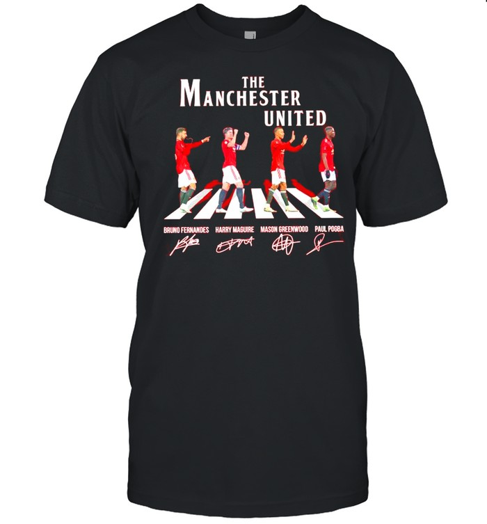 THe Manchester United Abbey Road signatures shirt Classic Men's T-shirt