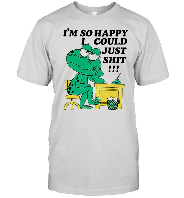 Frog Im so happy I could just shit shirt Classic Men's T-shirt