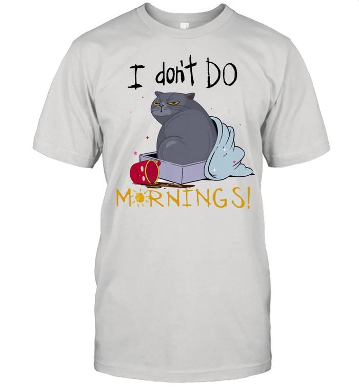 Cat I dont do mornings shirt Classic Men's T-shirt