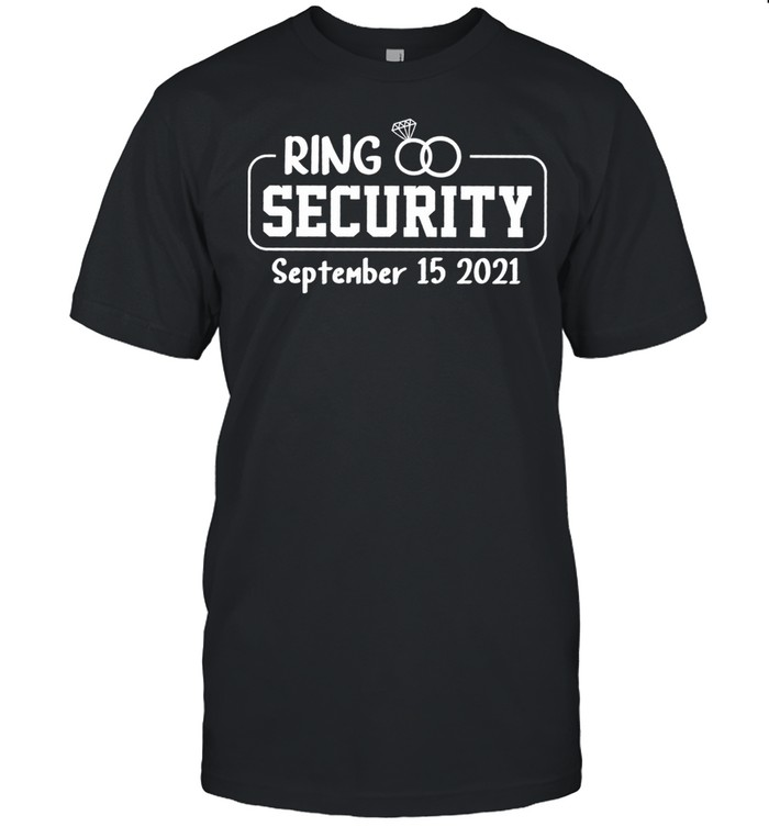 Personalized Ring Security Ring Bearer Outfit Wedding Day shirt Classic Men's T-shirt