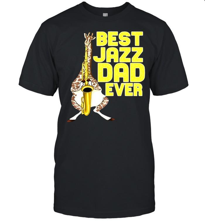 Merchpole Best Jazz Dad Saxophone Fathers Day  Classic Men's T-shirt