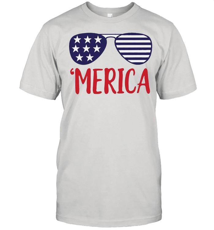 4th of July Merica Glasses Classic shirt Classic Men's T-shirt