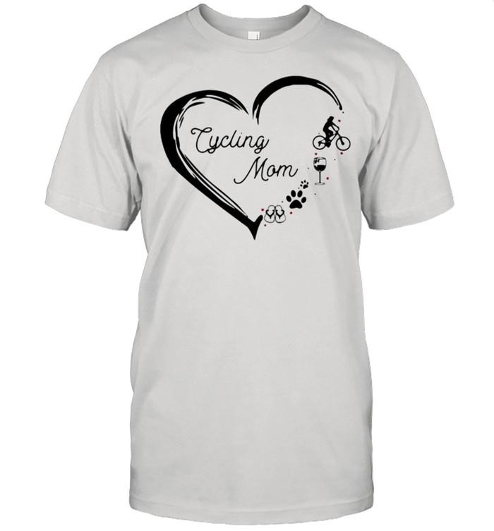 Love Cycling Mom Wine Dog Flip FLop  Classic Men's T-shirt
