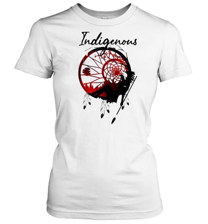 girl indigenous native  classic womens t shirt