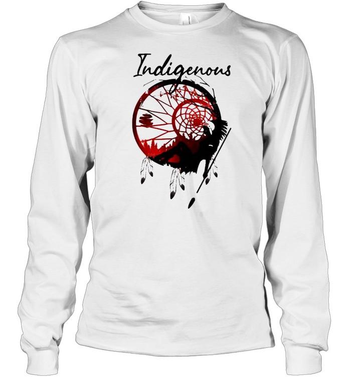 girl indigenous native  long sleeved t shirt
