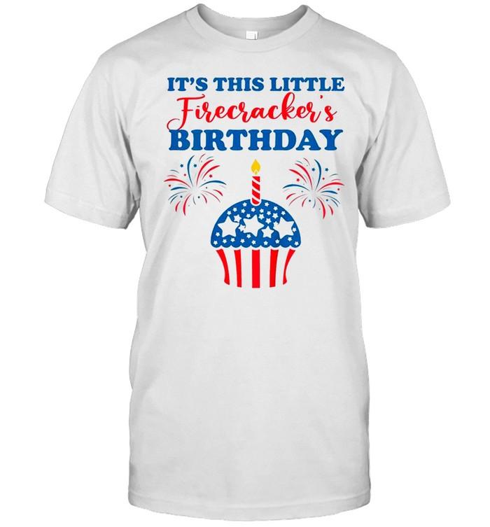 Fourth of July Birthday Cupcake Matching Family Patriotic Classic shirt Classic Men's T-shirt