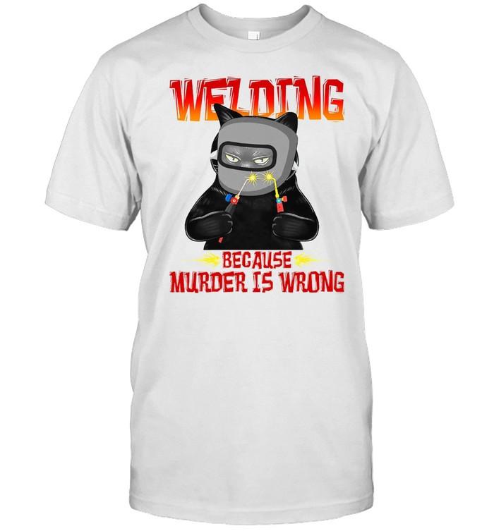 Cat Wedding Because Murder Is Wrong T-shirt Classic Men's T-shirt