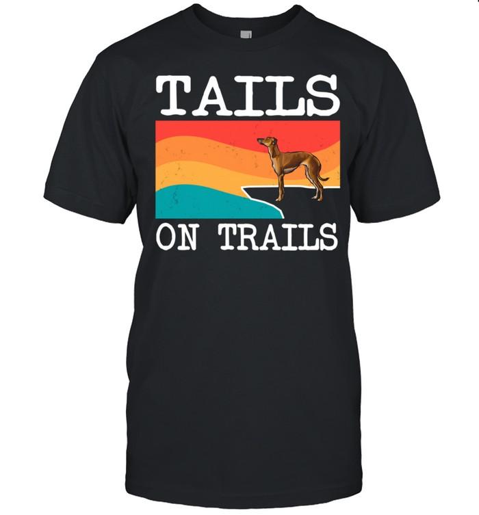 Tails On Trails Italian Greyhound Dog Hiking shirt Classic Men's T-shirt