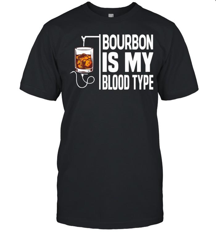 Bourbon is my blood type shirt Classic Men's T-shirt