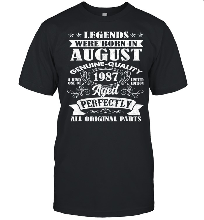 Legends Were Born In August 1987 34Th Birthday Us 2021 shirt Classic Men's T-shirt