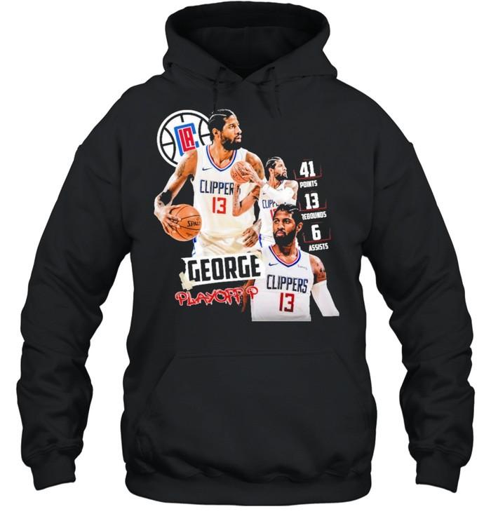 paul george los angeles clippers shirt unisex hoodie