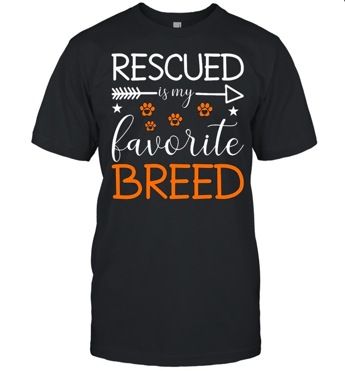 Rescued Is My Favorite Breed Animal Rescue T-shirt Classic Men's T-shirt