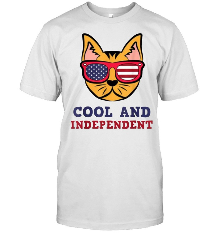 Cool and independent Ameowrican Patriot Cat T- Classic Men's T-shirt
