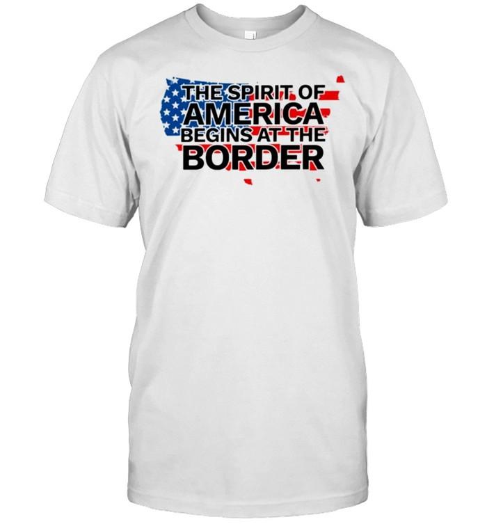 American flag the spirit of America begins at the border shirt Classic Men's T-shirt