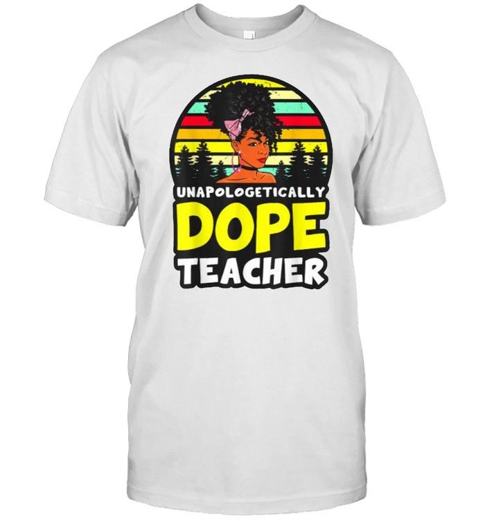 Black Teachers Unapologetically Dope Teacher Melanin Queen Vintage T- Classic Men's T-shirt