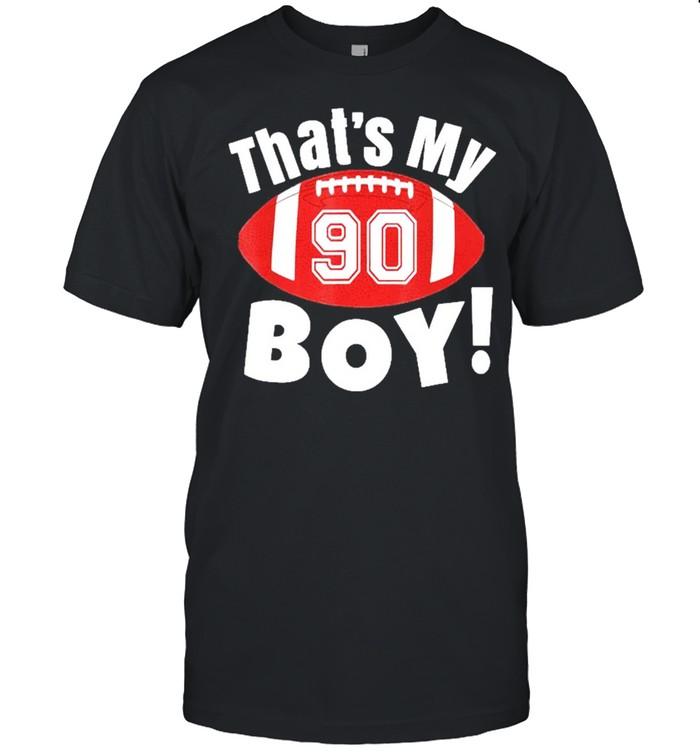 Football Player Thats My Boy Cheer Mom Dad Team shirt Classic Men's T-shirt